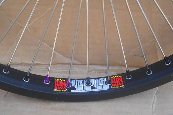 Bike Wheel ALLOY NIPPLES Primo BMX bike spoke polished NIPPLES 14G SM SE 38count