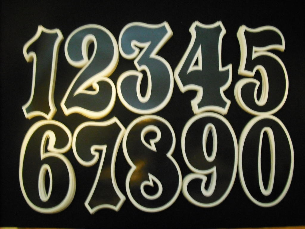 Old School BMX Cassap Numbers BLACK//YELLOW NOS