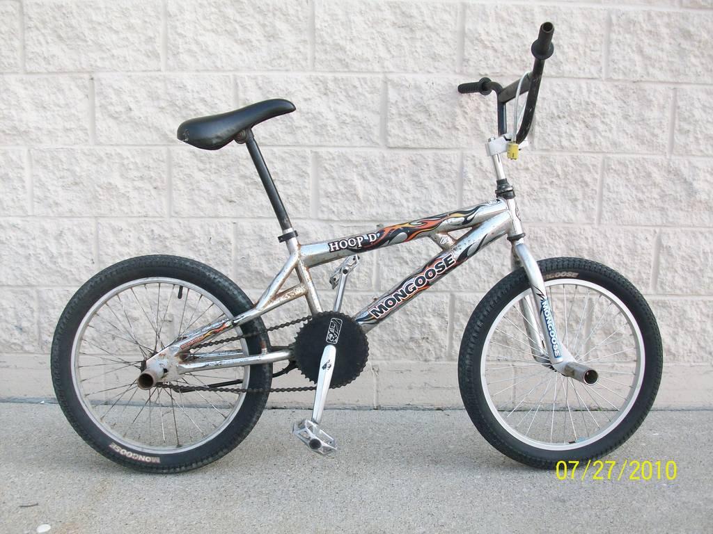 mongoose bmx bike silver