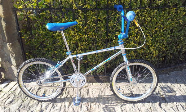 Old school bmx Tioga by Tange Rhino Charge Green blue chrome decal set