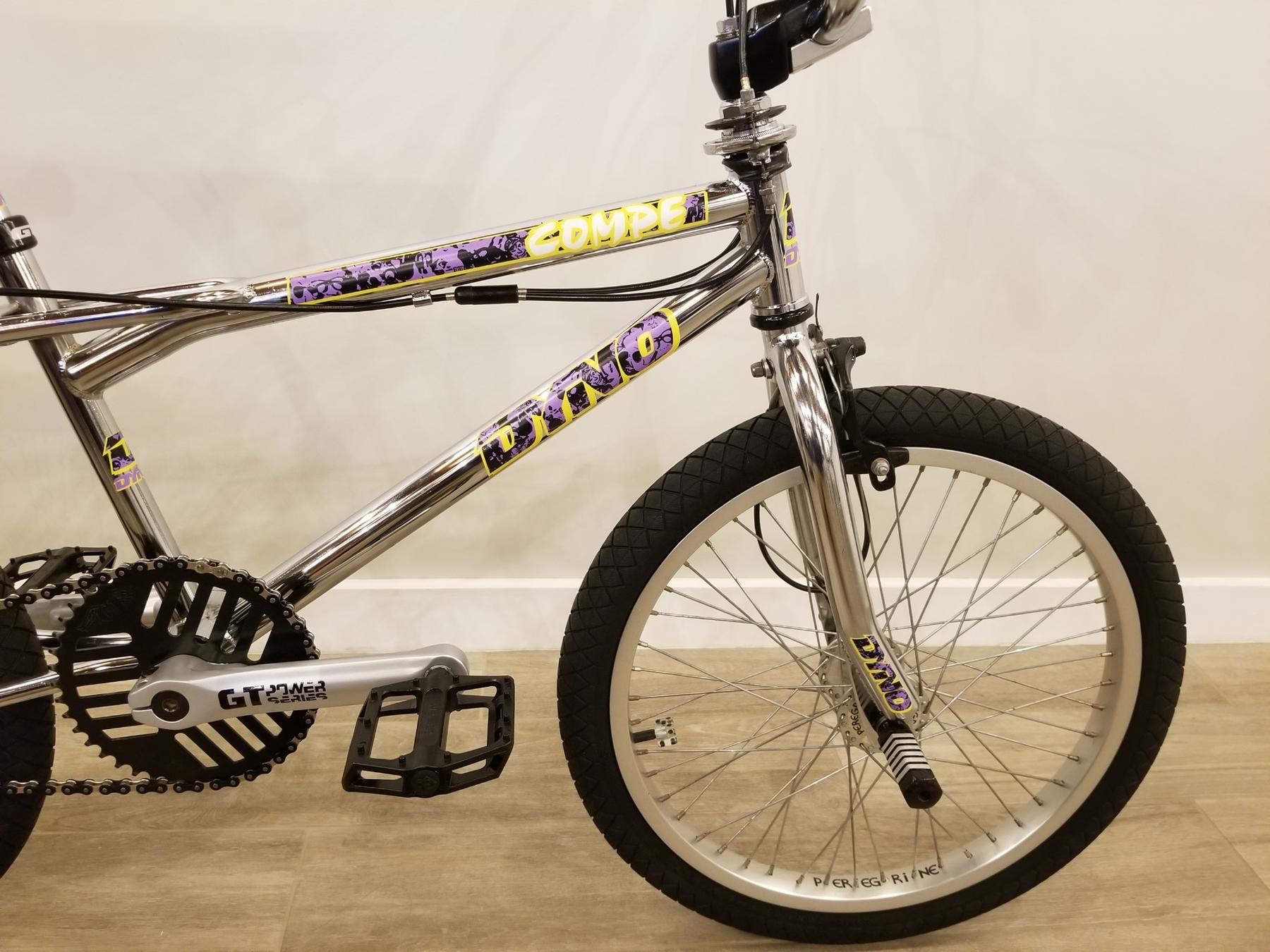 OLD SCHOOL BMX Purple//Yellow 1989 Dyno Compe Decal Stickers
