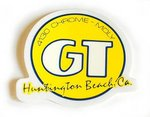 GT Sticker Headtube, Huntington style, YELLOW cover