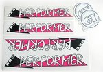 Sticker set, GT Pro Performer, CLEAR cover