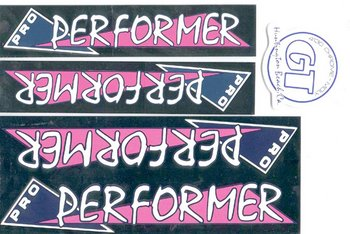 Sticker set, GT Pro Performer, CHROME