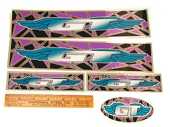 GT Sticker set, Purple and Teal