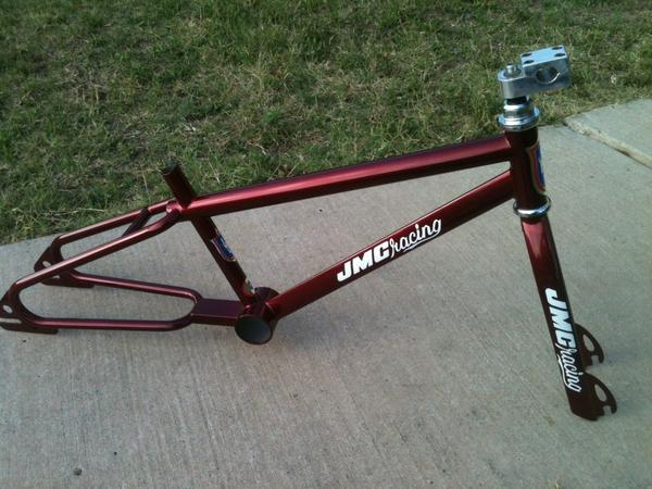 This isn't my bike, but it's red and a JMC, so you get the idea.