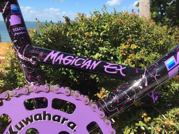 """for Bravo Pro Team Black Magician EX Kuwahara /""""POWER/""""  BMX Decal Sticker"""