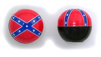 """Rebel flag"" valve caps"