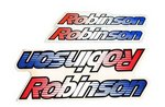 Robinson Sticker set, Stripes clear or chrome background cover