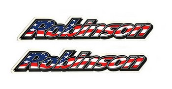 Stickers, 2 @ Robinson stars and stripes 8""