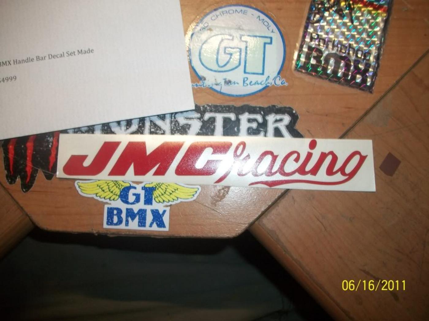 BMXmuseum com Reference / JMC Racing Decals