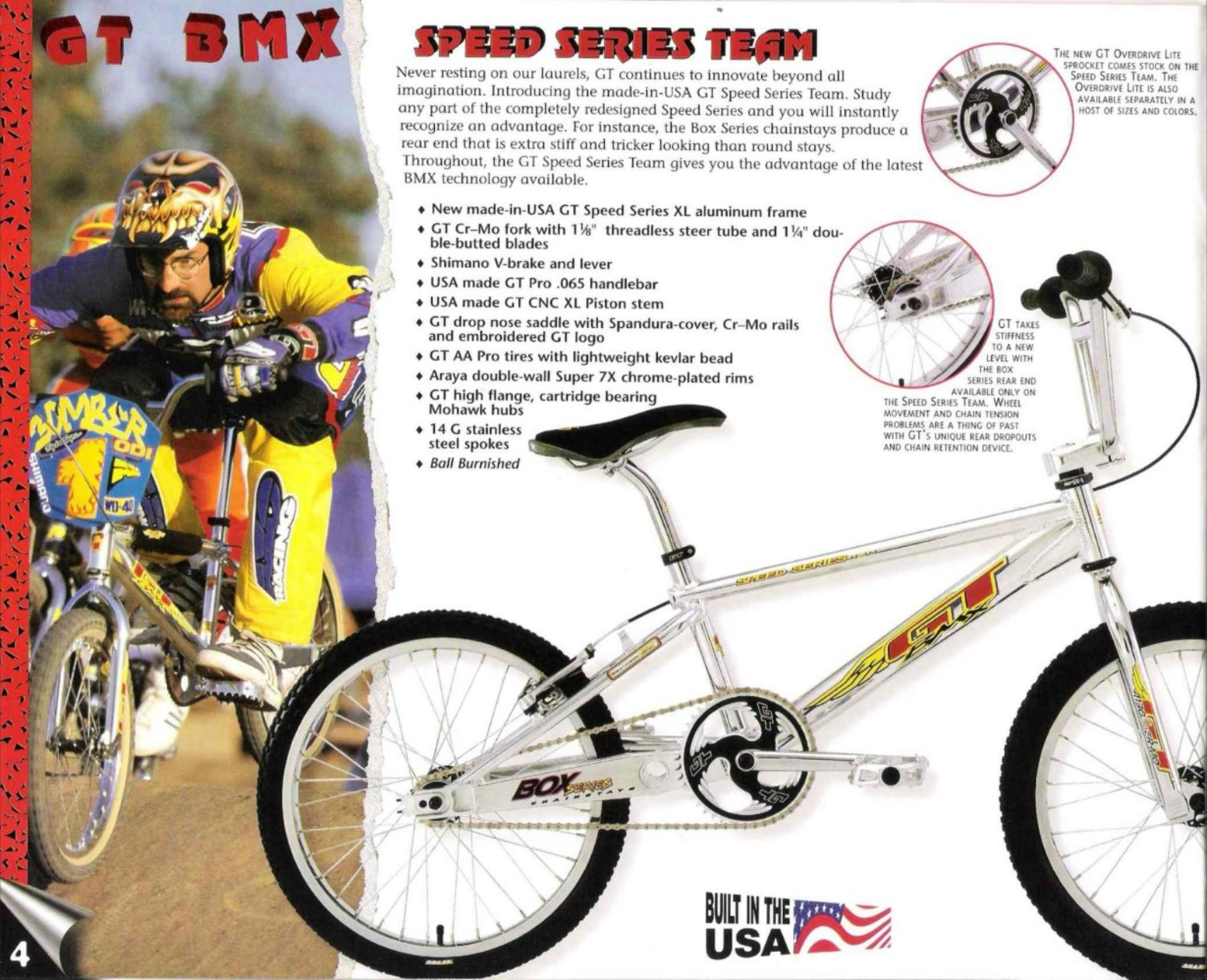 Bmxmuseum Com Reference 1997 Gt Speed Series Team