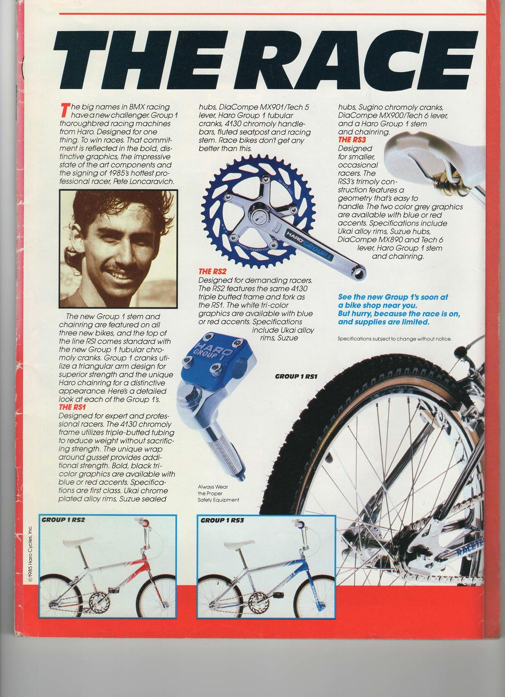 BMXmuseum.com Reference / 1986/1987 Haro Group 1 RS1/RS2/RS3