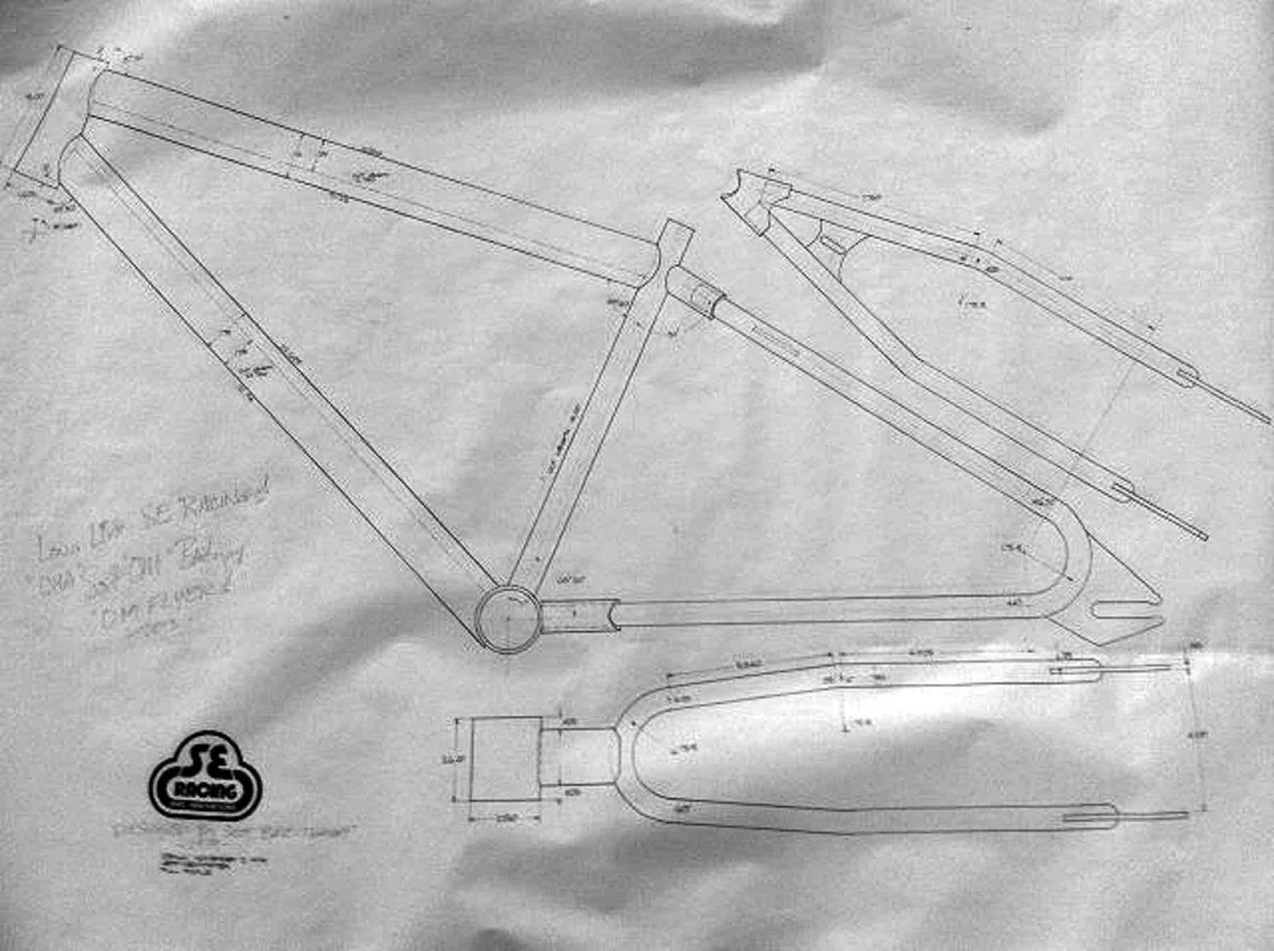 Bmxmuseum reference se racing signed frame blue prints add comment malvernweather Choice Image