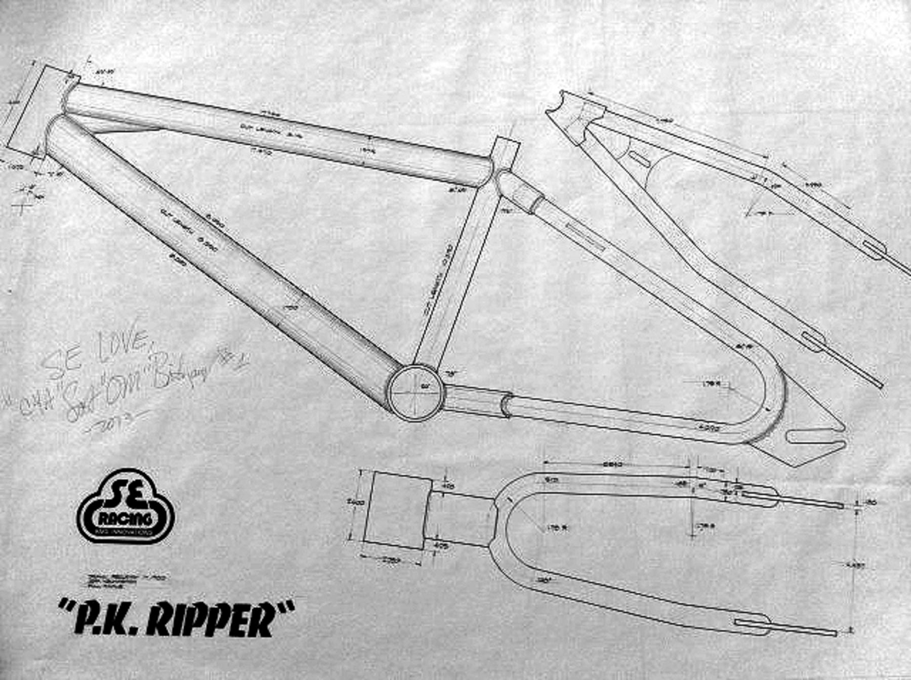 Bmxmuseum reference se racing signed frame blue prints gary ownercurator 1193 0 0 7132015 malvernweather Choice Image